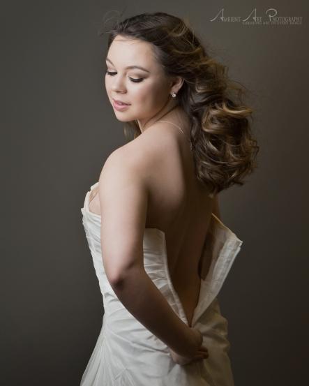 sexy wedding dress portrait session