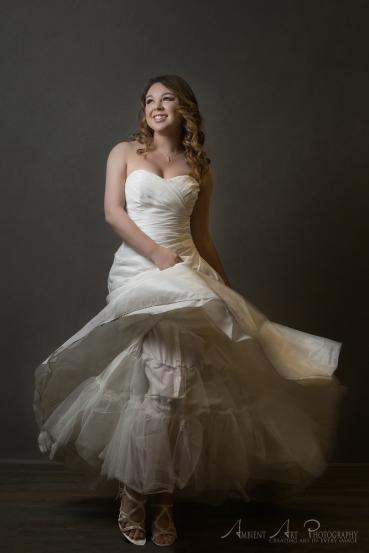 glam the dress bridal portrait